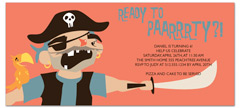 Pirate Princess Ship Birthday Party Invitations