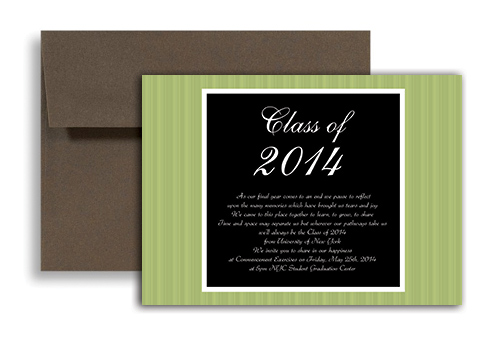 2014 Medical School Blank Graduation Announcement 7x5 in. Horizontal