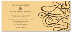 Personalized Swirly Design Blank Wedding Invitation