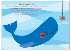 Fish Beach Swimming Microsoft Word Birthday Invitation