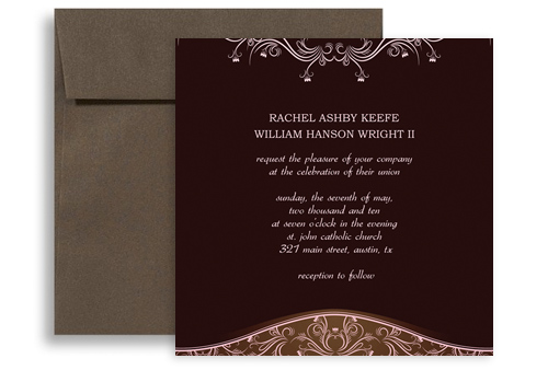 Hindu Indian Template Microsoft Word Wedding Invitation 5x5 in. Square