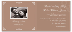 Rehearsal Reception Party Microsoft Word Wedding Invitation
