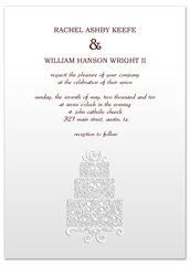Silver Metallic Pattern Microsoft Word Wedding Invitation