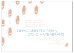 White Heart Abstract Personalized Wedding Invitation