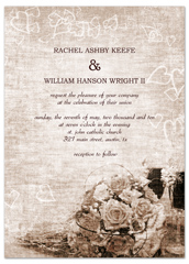 Classic Traditional Roses Wedding Invitation Design