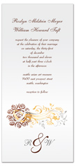 Elegant Floral Designed Wedding Invitation Design