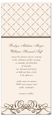Inexpensive Cream Brown Wedding Invitation Example