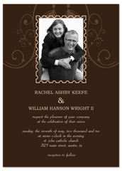 Photo Customise Second Wedding Invitation Example