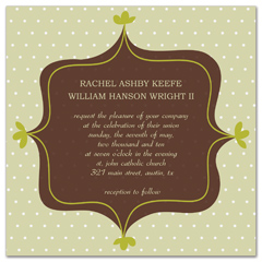 Creative Green Brown Wedding Invitation Ideas