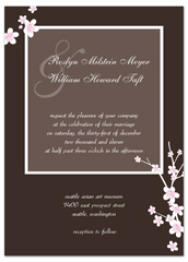Homemade Diy Brown Color Wedding Invitation Ideas