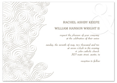 Snow Winter White Theme Wedding Invitation Ideas